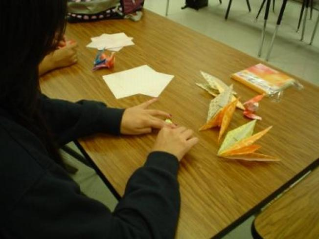 Marcus Students Return Kind Gesture with Cranes