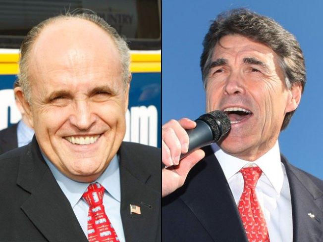 Giuliani, Perry Talk Border Security
