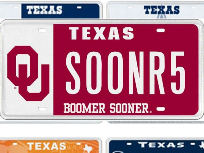 Texas Fans Seeing Red Over OU License Plates