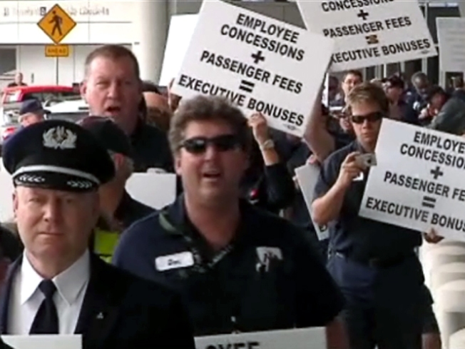 AA Employees Picket for Pay Raises