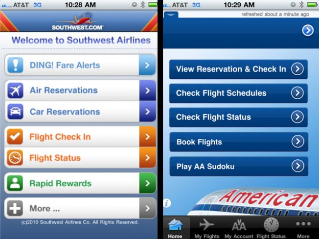 AA Catches Southwest in Apple's App Store