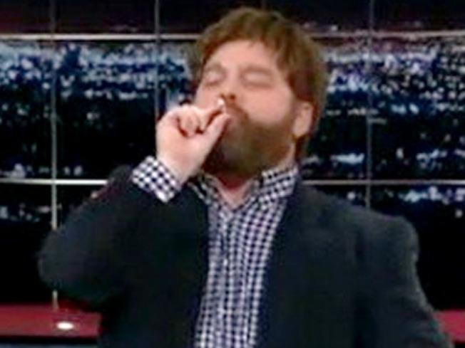 "Zach Galifianakis Takes ""Real Toke"" With Bill Maher"
