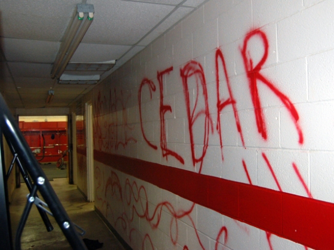 Vandals Destroy Baseball Team's Field House