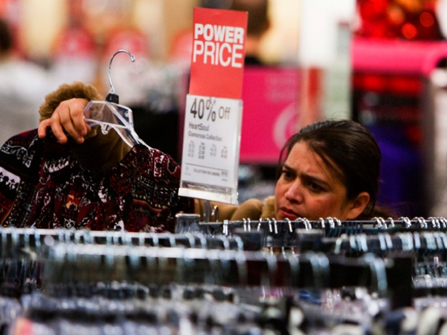 Bargain Hunters Hit the Stores