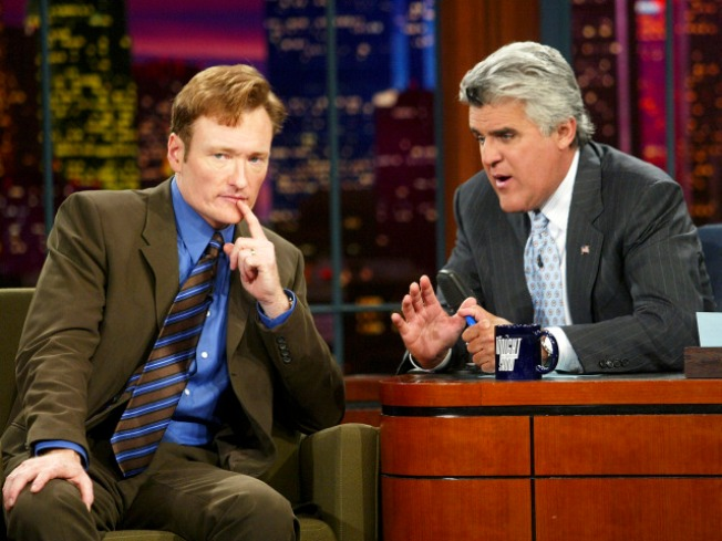 Leno, O'Brien Spoof Late-Night Shuffle