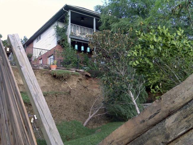 Dallas Backyard Slips Away in Landslide