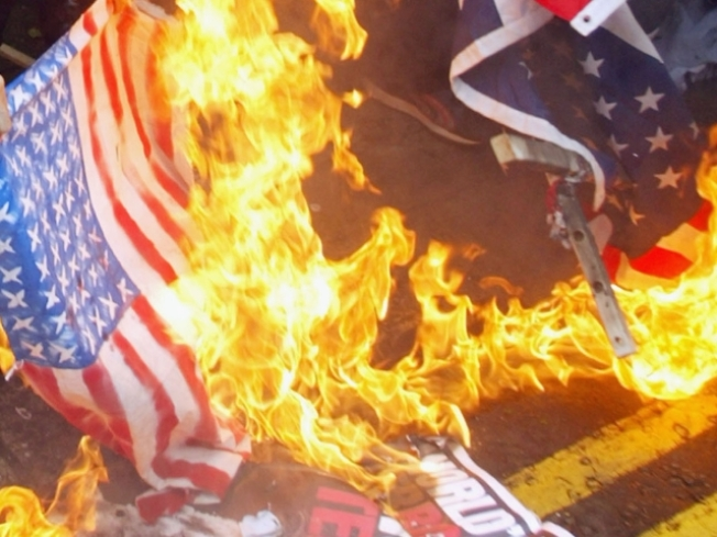 Flag Burning Set for Weekend