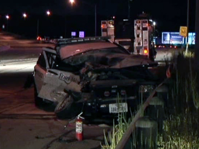 FW Officer Seriously Injured in Wrong-Way Crash