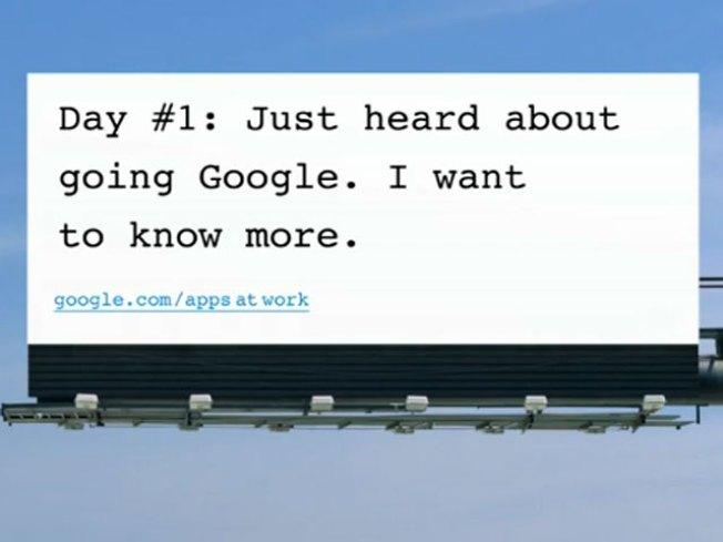 Google Resorts to Billboards in Microsoft Fight