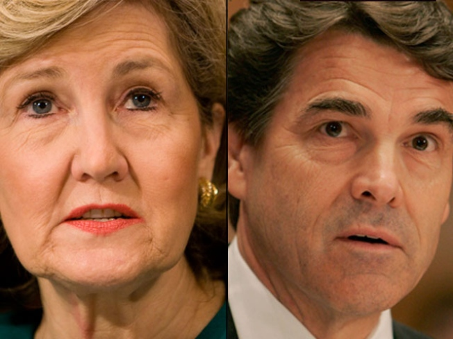 Hutchison Pressing Hot Button Issue in Latest Jab at Perry
