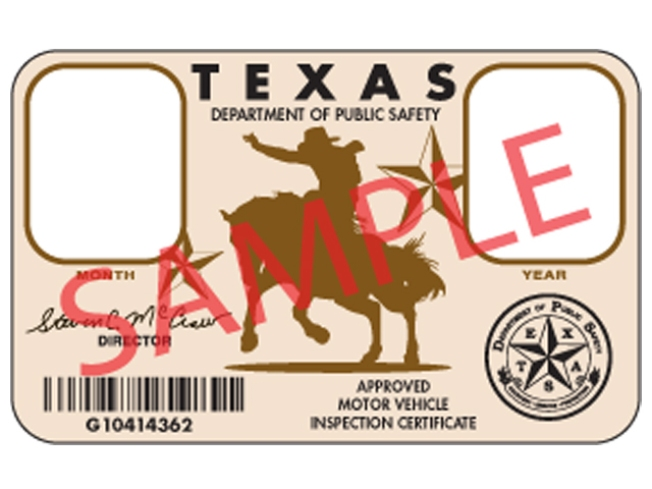Vehicle Inspection Stickers Get Cowboy Makeover