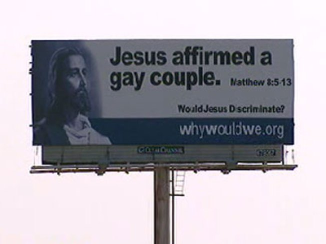 Homosexuality is an abomination billboard