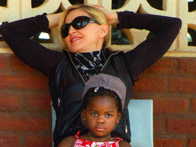 Madonna Lays First Brick For Her New Girls' School In Malawi, With Inscription 'Dare To Dream'