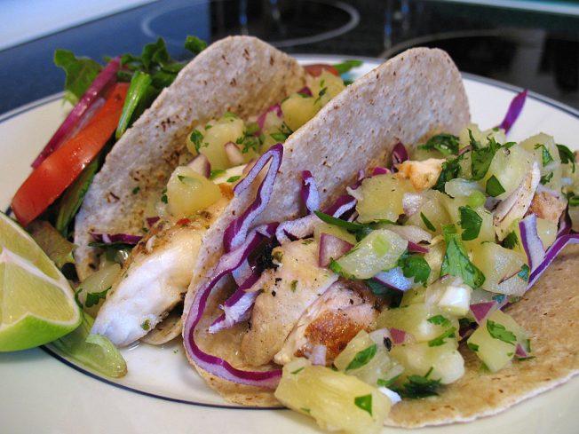 Glass Cactus Fish Tacos