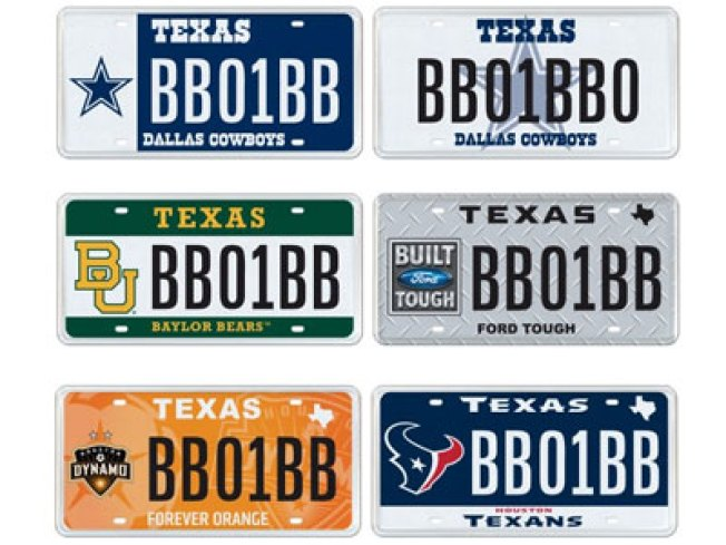New Plate Designs for NFL, NASCAR, College Fans