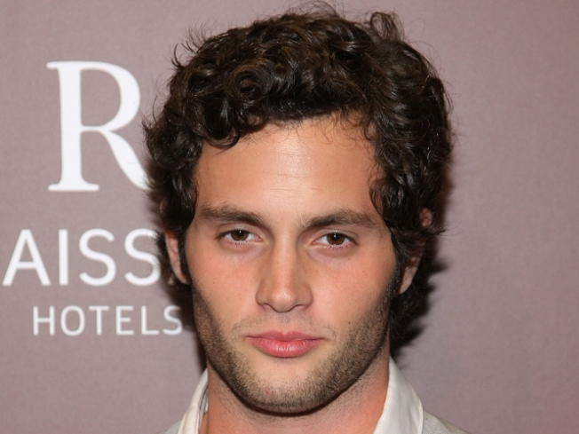 Penn Badgley Likes Low-Cut Dresses And Thigh-High Boots
