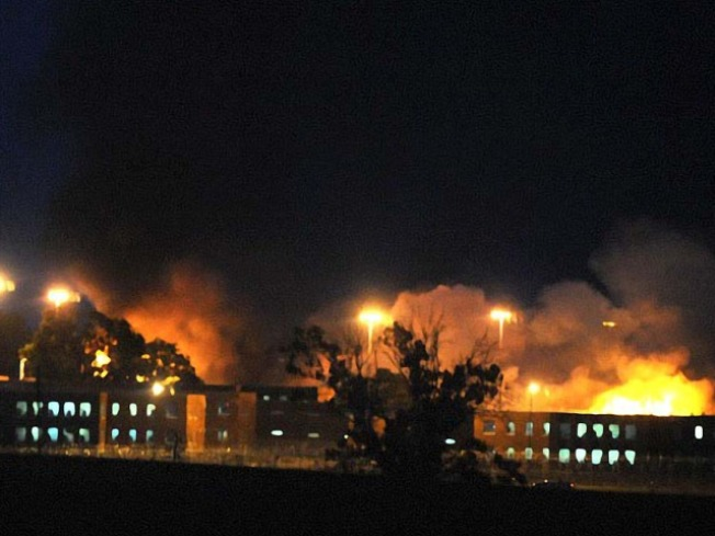 Prisoners Set Jail on Fire