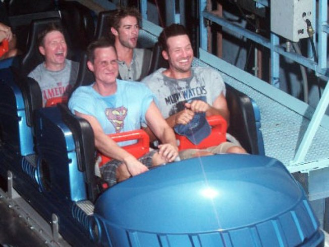 Romo, Chace Crawford Spend The Day At Six Flags