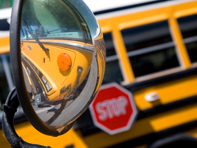 13 Injured in School Bus Crash
