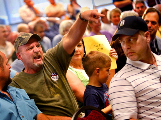 Town Hall Brawl: Health Care Forums Turn Ugly