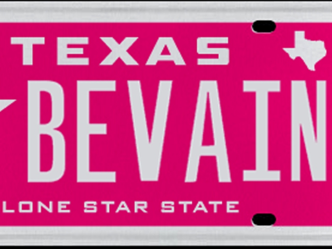 Texans Near $1.2M in Vanity Plates Since November