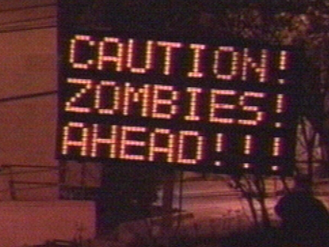 Zombies! Run! (TxDOT is Not Amused)