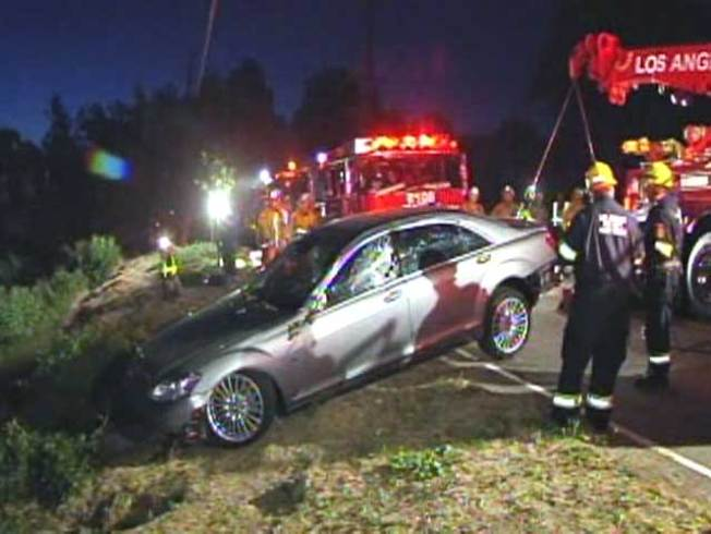 Another Charlie Sheen-Owned Car Found in Ravine