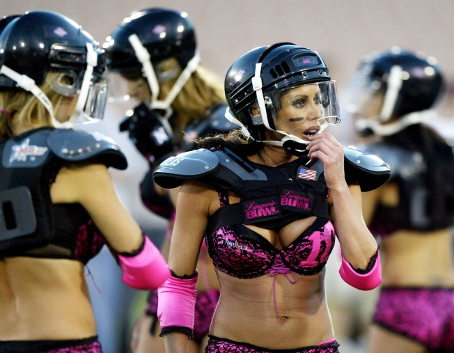 Players Cry Foul, But Lingerie Bowl a Go