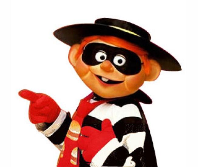 """""""Hamburglar"""" Steals a Meal at McDonald's"""