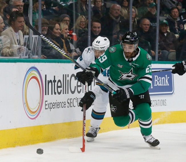 Pitlick Scores Twice, Bishop and Stars Beat Sharks