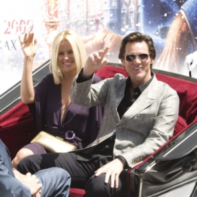 Jim Carrey Hits Cannes With Snow & 'A Christmas Carol'