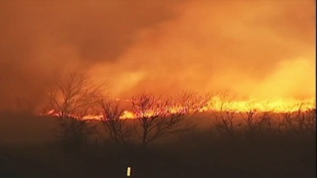 Threat of Texas Wildfires High