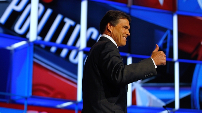 Perry Defends Record in GOP Debate