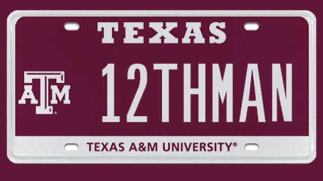 Aggie 12THMAN Plate Fetches $115,000