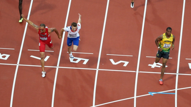 Spearmon's Photo Finish in 200m Semis