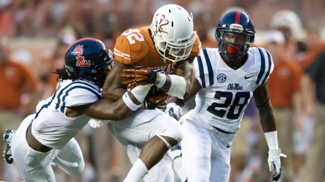 Texas' Defense Can't Stop No. 25 Ole Miss