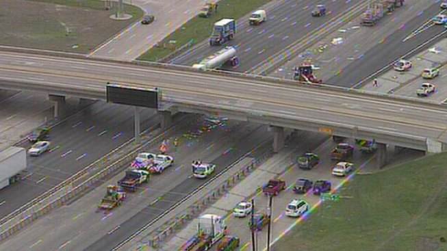 I-30 Reopens After Truck Collides With Bridge