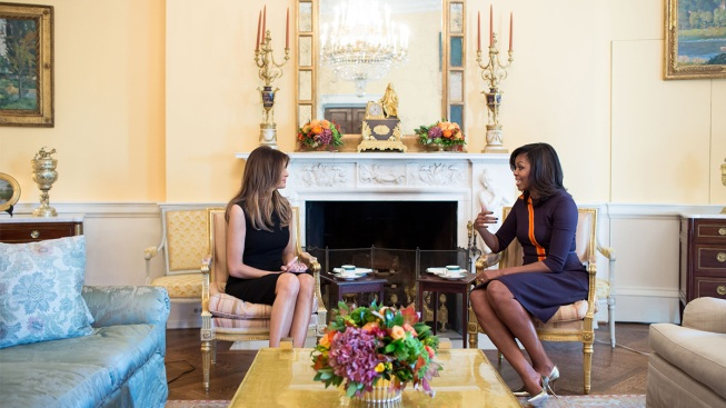 Melania Trump, Michelle Obama Discuss Raising Children in the White House