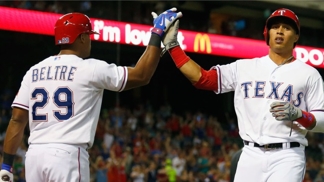 Texas Odor Delivers with Bat, Glove in Win Over Brewers