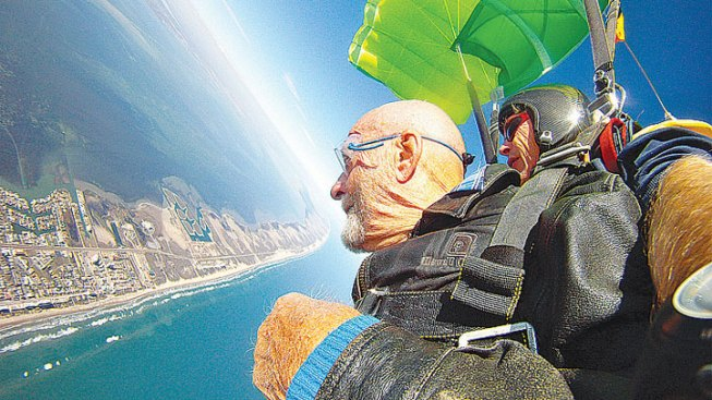 90-Year-Old Skydives on South Padre Island