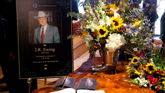 'Dallas' Funeral for J.R. Honors Larry Hagman