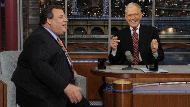 N.J. Gov. Christie, Letterman Laugh About Fat Jokes