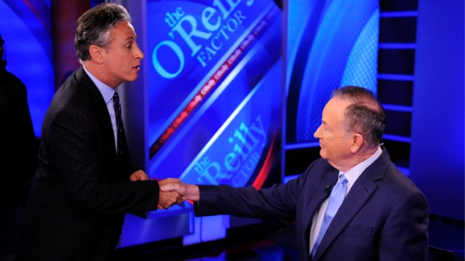 O'Reilly, Stewart Joust at Mock Debate