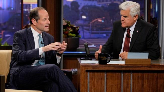 Spitzer Tells Leno He Cares About Public Service