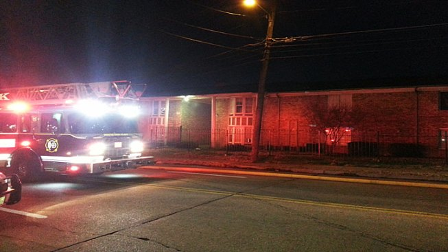 Firefighters Rescue Man From Apt. Fire