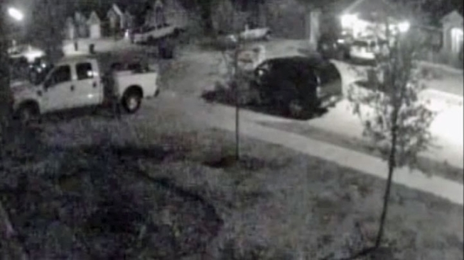 Surveillance Video Captures Thief Stealing From Truck
