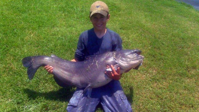 Colleyville Kid Catches Colossal Catfish