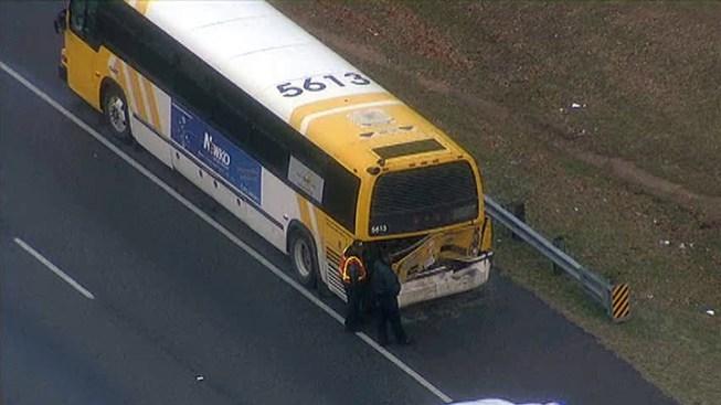 18-Wheeler Crashes Into DART Bus