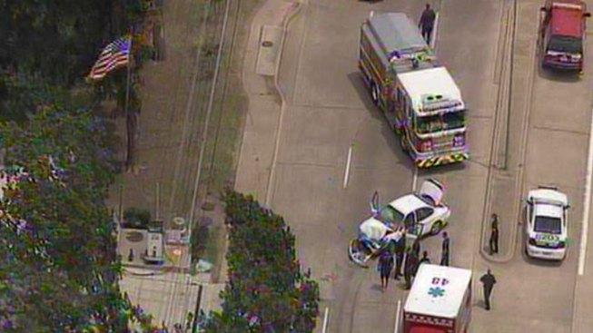 Dallas Fire-Rescue Engine Involved in Accident