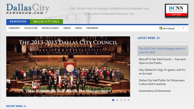 Dallas City Hall Launches New Website